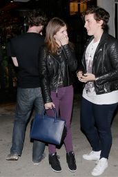 Anna Kendrick Night Out Style - Out in Los Angeles - August 2014
