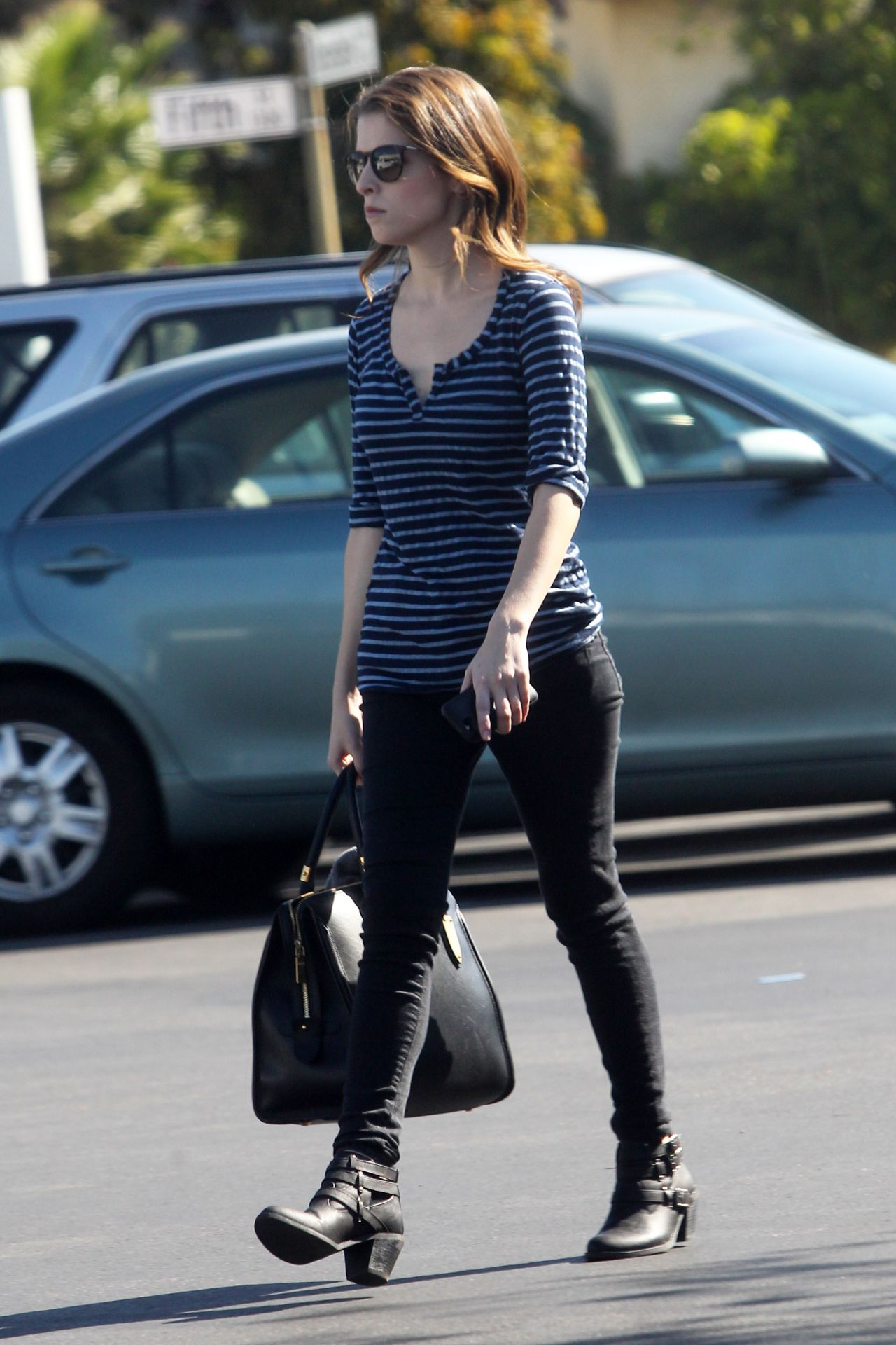 Anna Kendrick Street Style - Out in Los Angeles, Septemebr 2014
