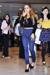 Ariana Grande at Narita International Airport in Tokyo - September 2014
