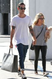 Ashley Tisdale Street Style - Out Shopping in Los Angeles - September 2014