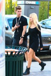 Ava Sambora in Black Mini Dress - Heading to Sugarfish Sushi in Calabasas - Sept. 2014