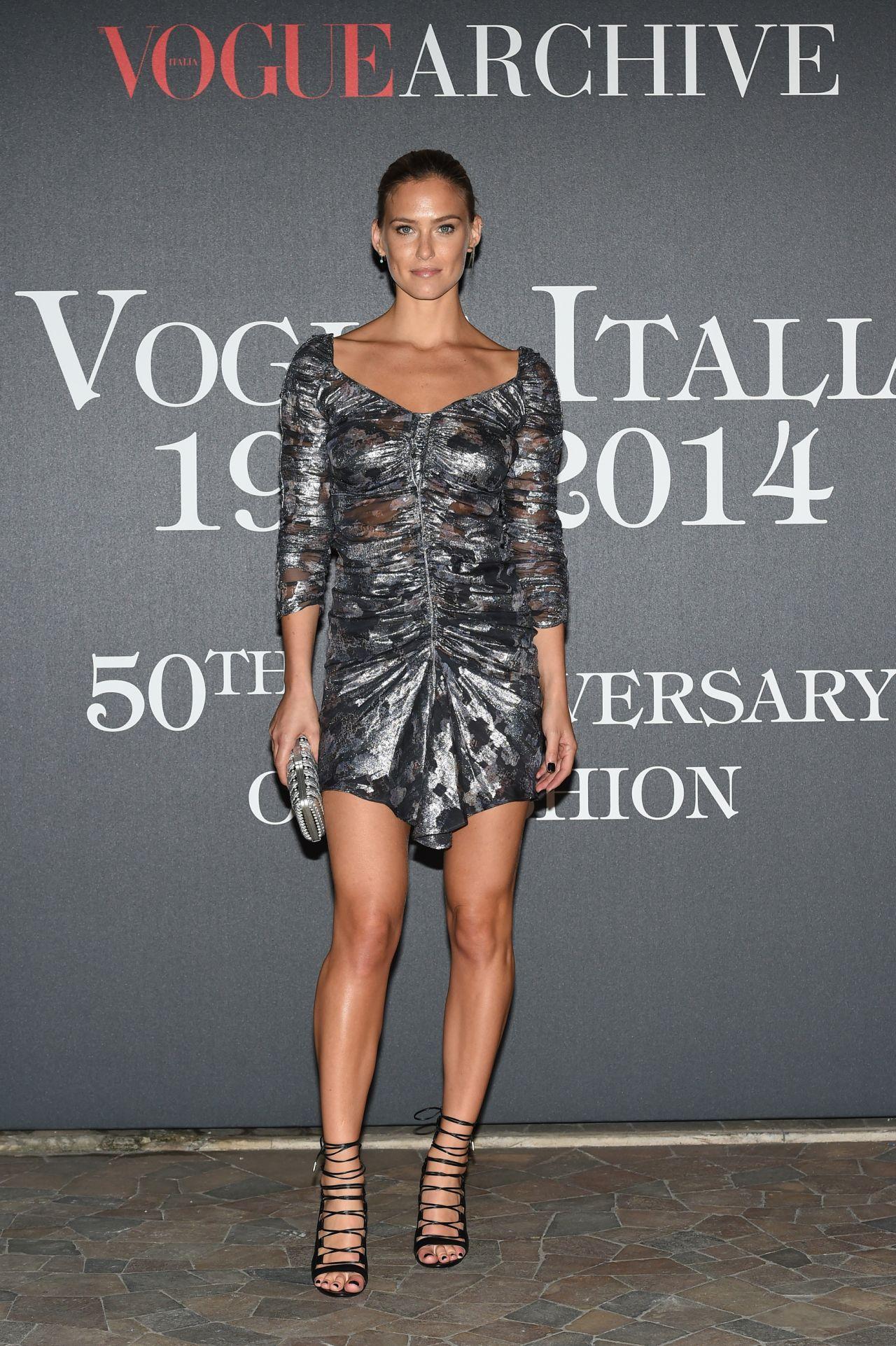 Bar Refaeli - Vogue Magazine 50 Archive Party in Milan, Italy