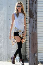 Behati Prinsloo On the Set of a Maroon 5 Music Video in Los Angeles - August 2014