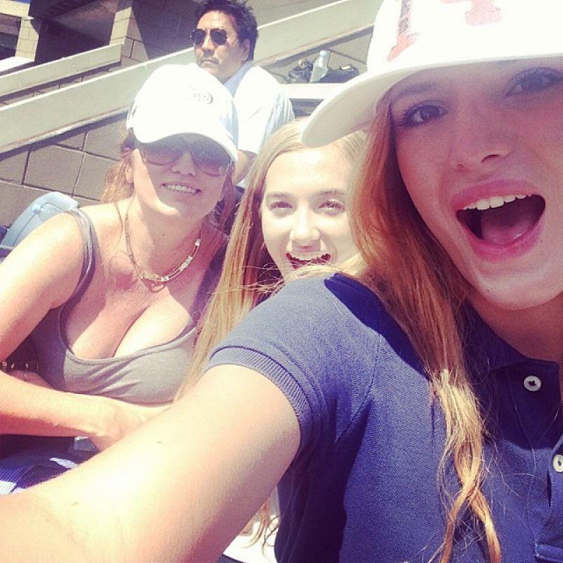 Bella Thorne at the U.S Open 2014 - September 2014