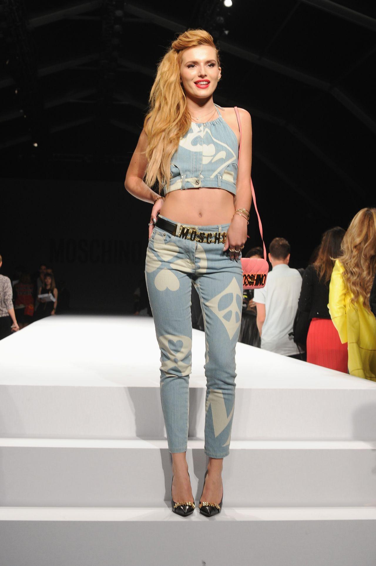 Bella Thorne - Milan Fashion Week - Moschino Show, September 2014