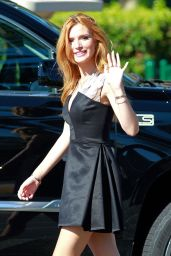 Bella Thorne on the set of