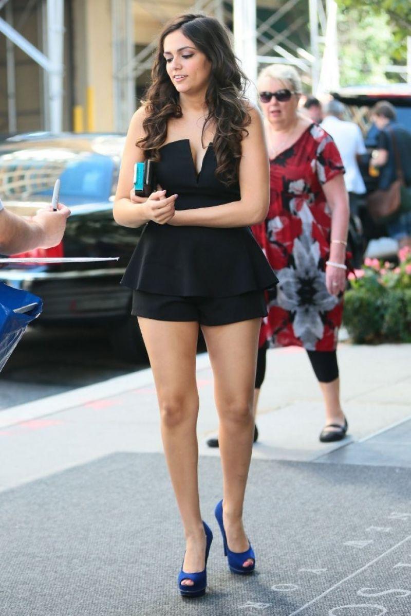 Bethany Mota Leggy - Outside the Trump Soho Hotel in New York City - September 2014