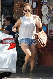 Brenda Song in Jean Shorts Out in Studio City - September 2014