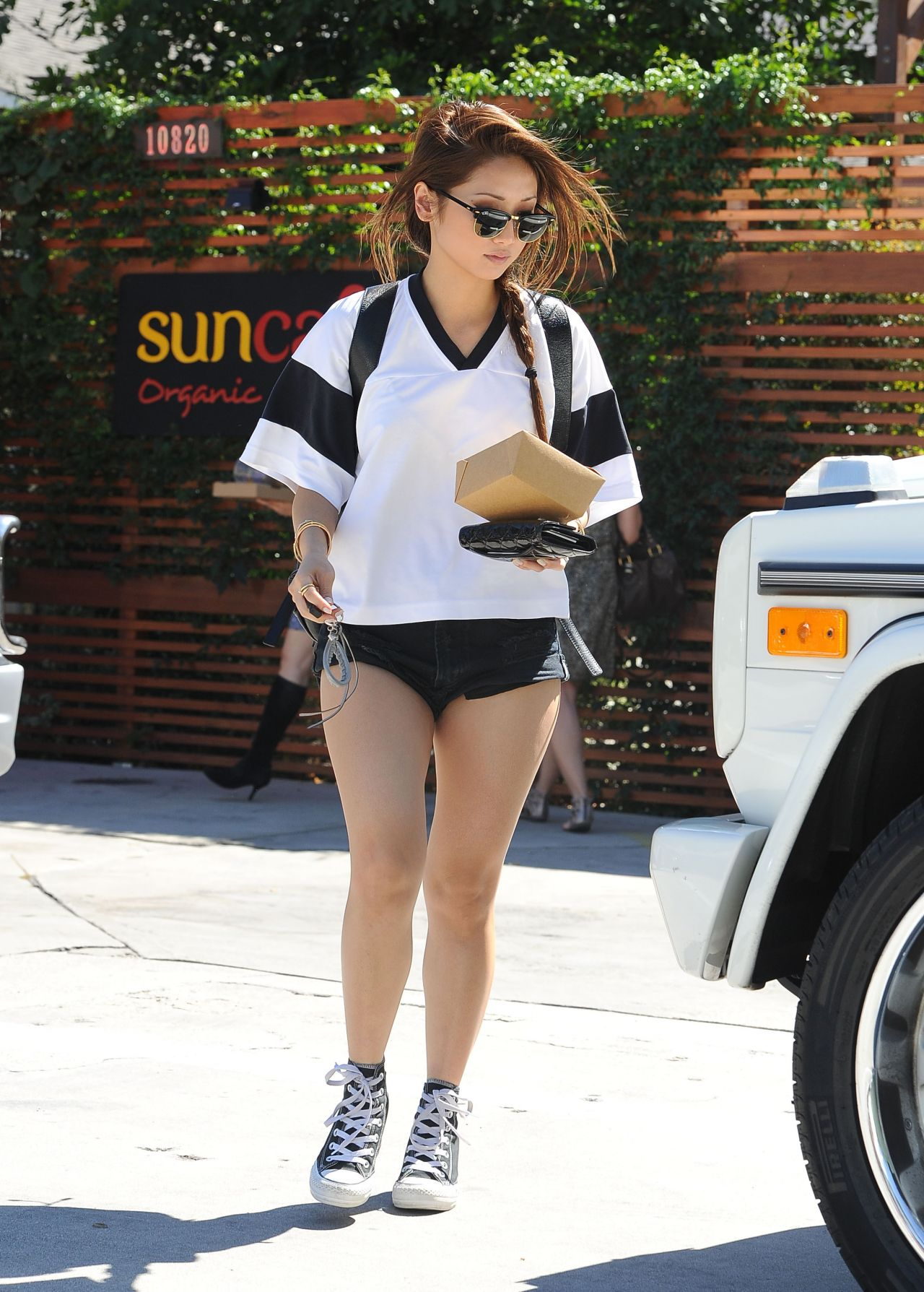 Brenda Song in Shorts - Out in Los Angeles, Sept. 2014