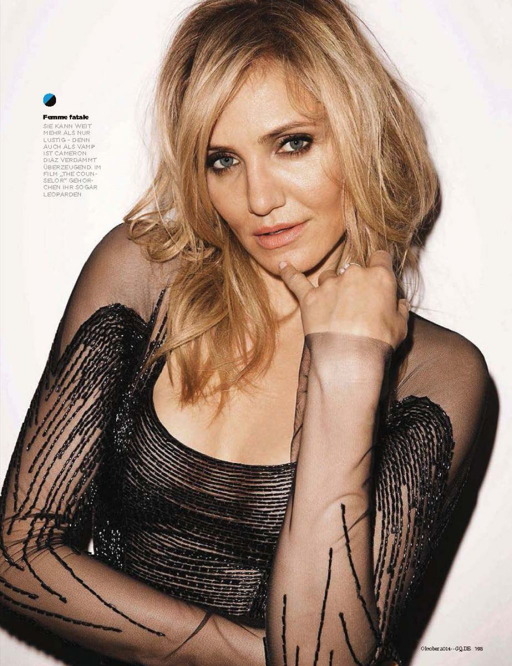 Cameron Diaz Gq Magazine Germany October 2014 Issue