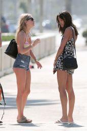 Camille Rowe in a Bikini on a Photoshoot in Santa Monica - September 2014
