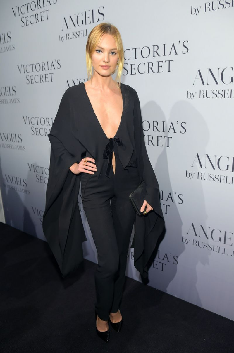 Candice Swanepoel at Russell James' 'Angel' Book launch in New York City