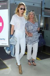 Candice Swanepoel Style - at LAX Airport - September 2014