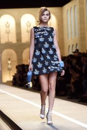 Cara Delevingne on the Catwalk - Fendi Show at Milan Fashion Week in Milan, Italy - September 2014