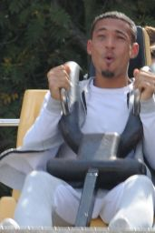 Chloe Goodman Out With Her Boyfriend at Alton Towers Staffordshire - August 2014
