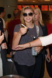 Chloe Moretz Arriving at Toronto Pearson International Airport - September 2014