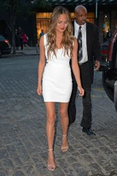 Chrissy Teigen Hot in Mini Dress - Out in New York City - September 2014