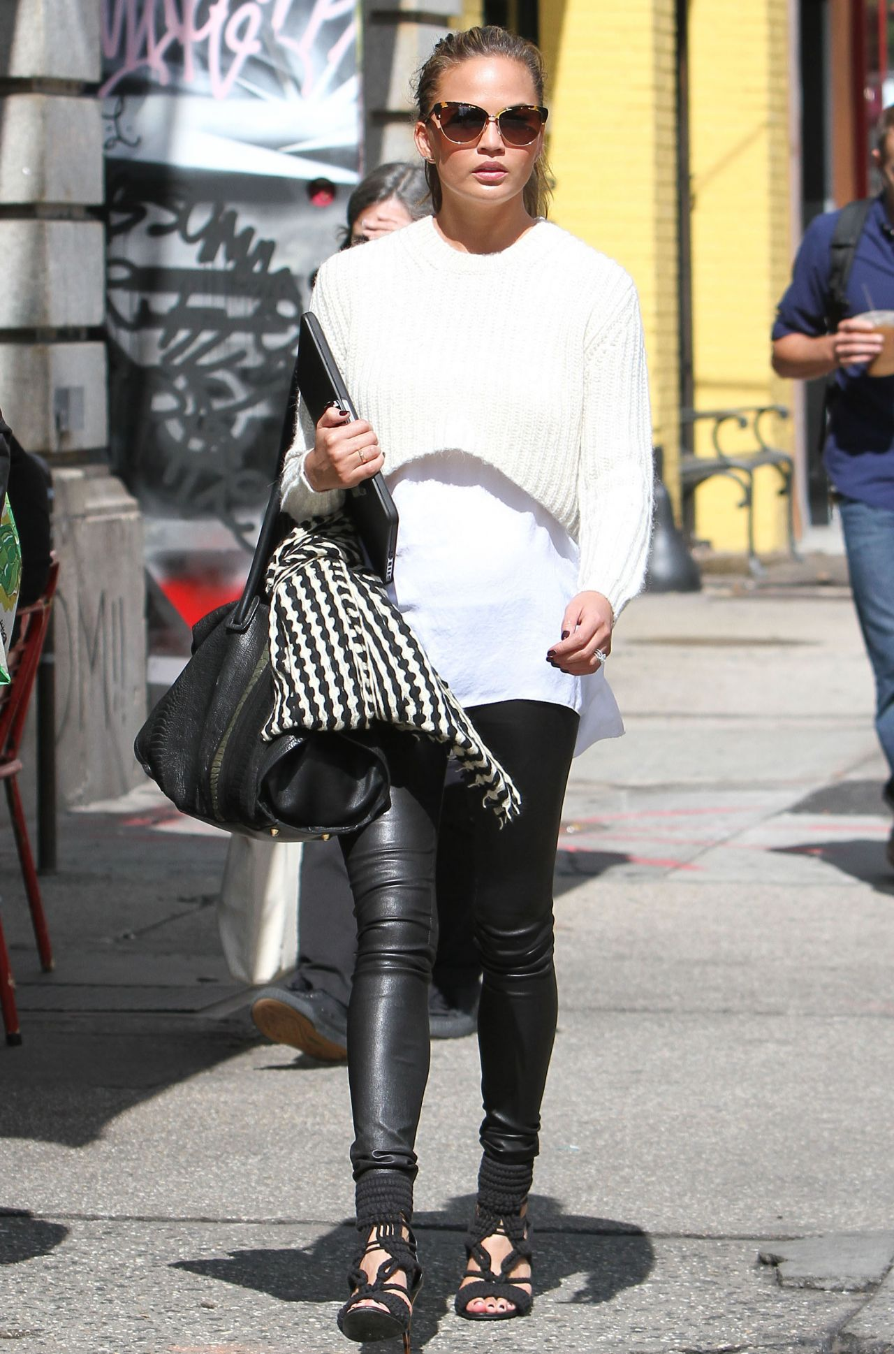 Chrissy Teigen Style - Out in New York City - September 2014