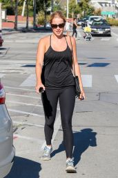 Claire Holt in Tights - Out in Los Angeles, September 2014