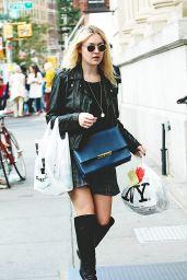 Dakota Fanning Casual Style - Out in SoHo, New York City - September 2014