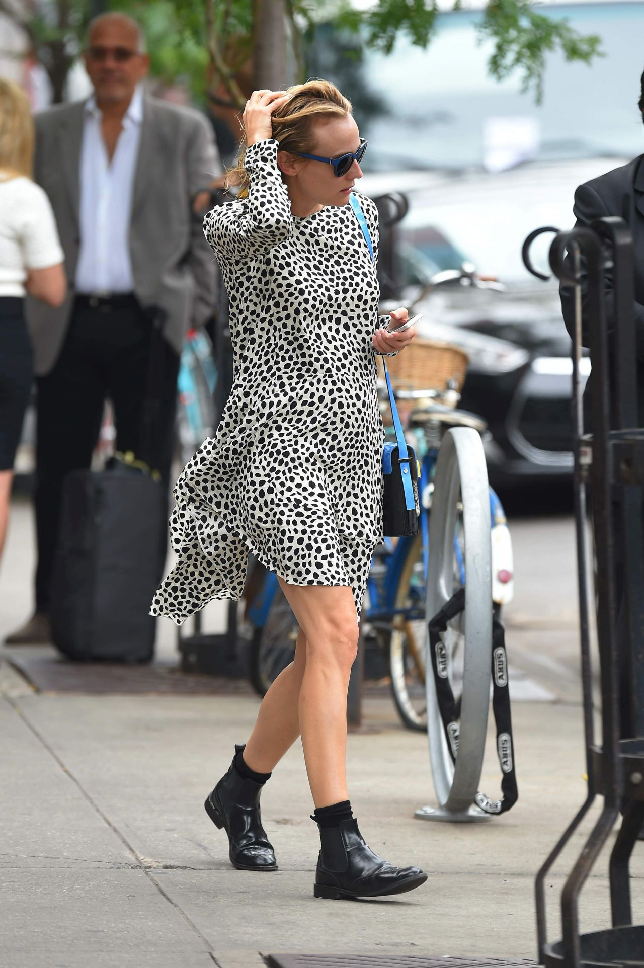 Diane Kruger Street Style - Out in New York City - September 2014