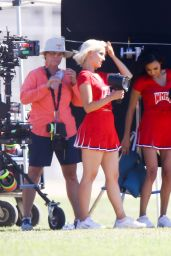 Dianna Agron Dressed as a Cheerleader -