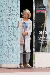 Dianna Agron Street Style - Leaving the Nail Salon in Studio City - Sep 2014