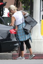 Dianna Agron Street Style - Out in West Hollywood - September 2014