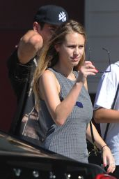 Dylan Penn ini Mini Dress - Out in Los Angeles, September 2014