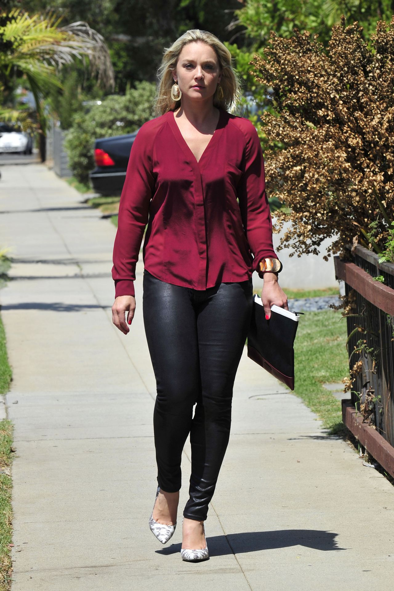 Elisabeth Rohm in Tight Pants Out in Santa Monica - September 2014