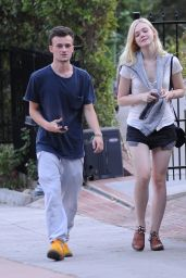 Elle Fanning Out in Los Feliz - August 2014