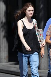 Elle Fanning Street Style - Out in Studio City, Sept. 2014