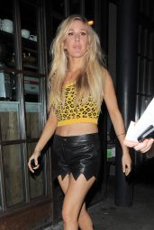 Ellie Goulding Night Out Style - Out in London - September 2014
