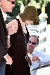 Emma Stone on a Dock in Venice (Italy) - August 2014
