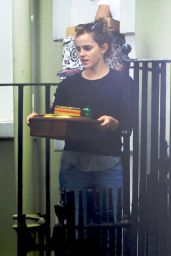 Emma Watson Moving Out of Her Place in London - September 2014