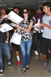 Emmy Rossum in Jeans at LAX Airport in Los Angeles - August 2014