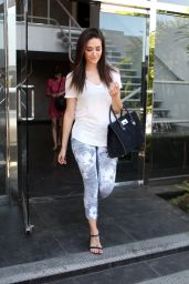 Emmy Rossum in Leggings - Leaving the Weidman Gallery in West Hollywood - Sept. 2014