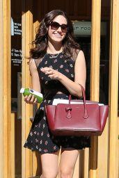 Emmy Rossum in Mini Dress - Leaving Pressed Juicery in Beverly Hills - September 2014