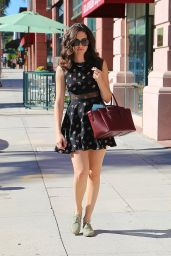 Emmy Rossum in Mini Dress - Leaving Pressed Juicery in Beverly Hills - September 2014