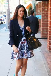 Emmy Rossum Leggy - Arriving at a Nail Salon in Beverly Hills - September 2014