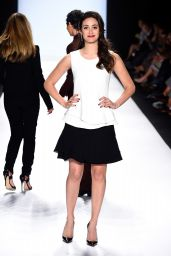 Emmy Rossum - Project Runway Fashion Show in New York City