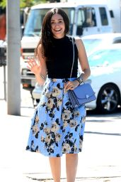 Emmy Rossum Style - Leaving Cafe Zinque in West Hollywood - Sept. 2014