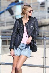 Erin Heatherton in Jeans Shorts at Bondi Beach August 2014