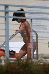 Eva Longoria Bikini Candids - at a Pool in Miami - September 2014