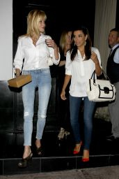 Eva Longoria Night Out Style - Leaves Dinner at Beso - September 2014