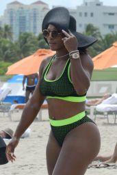 Eva Longoria & Serena Williams - Candids on the Beach in Miami - September 2014