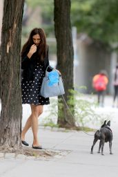 Famke Janssen - Out Walking Her Dog in New York City - September 2014