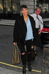 Frankie Bridge at BBC Radio 1 Studios in London - September 2014