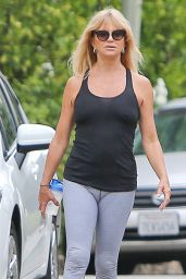 Goldie Hawn in Leggings - September 2014