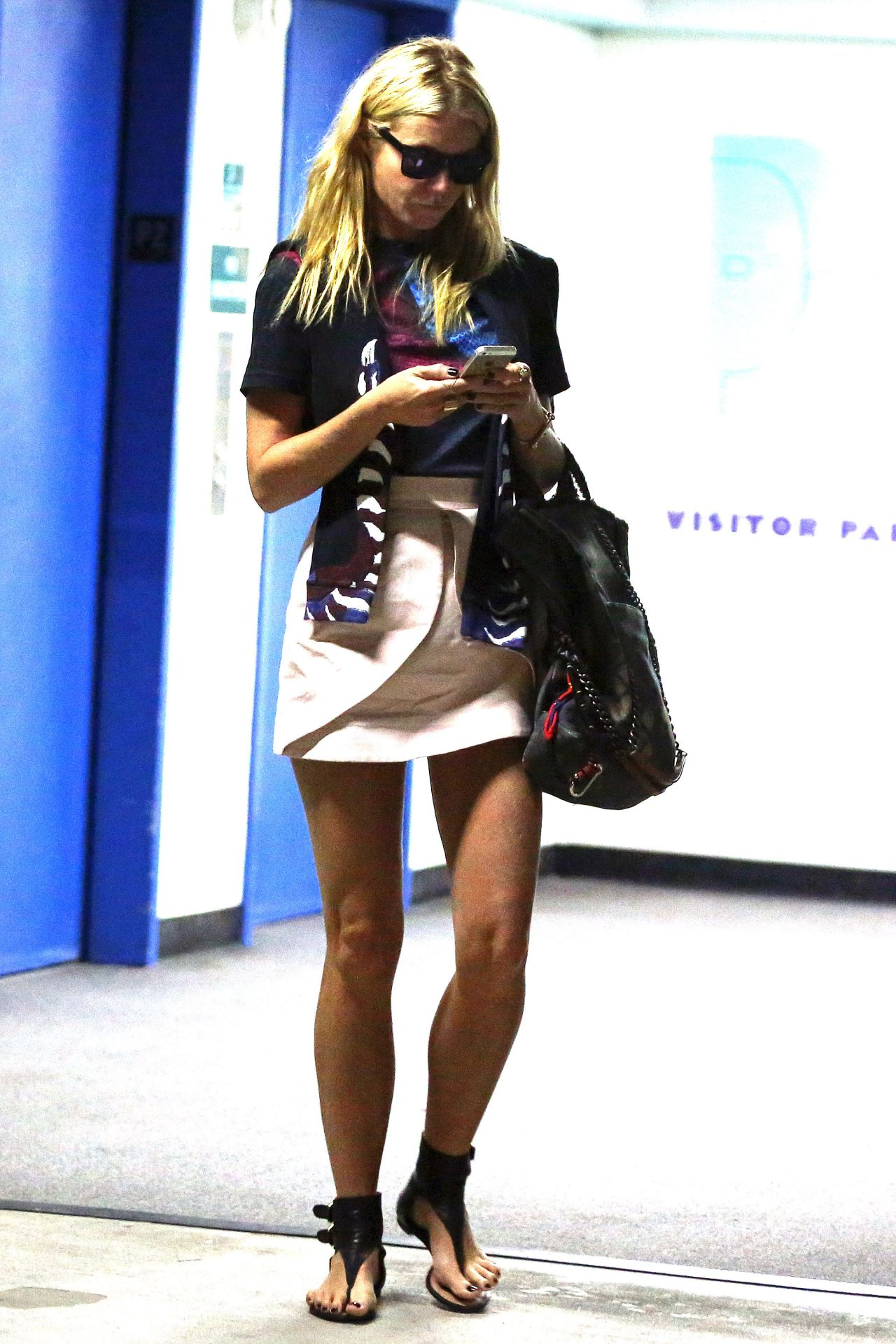 Gwyneth Paltrow Shows Off Her Legs - Out in Los Angeles, Sept. 2014